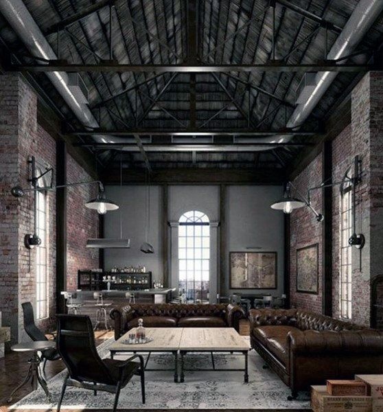 75 Man Cave Furniture Ideas For Men Manly Interior Designs Loft Design Loft Living Loft Style