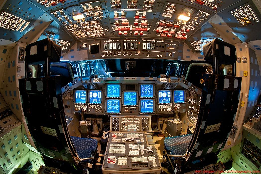 A view of space shuttle Endeavor's flight deck.  Amazing...