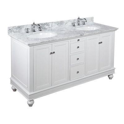 "KBC Bella 60"" Double Bathroom Vanity Set Base Finish: White"