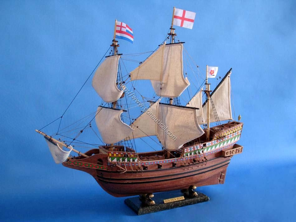 Golden Hind Limited 30 Tall Ships Nautical Decor Yacht Models Nautical Themes Gonautical Com Model Sailboat Model Ships Utility Boat