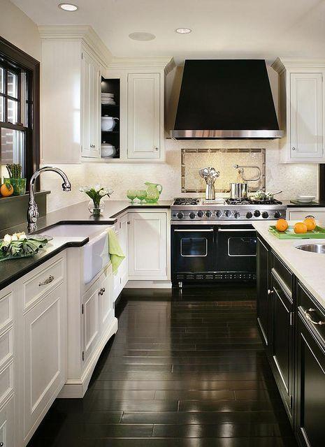 Black White Kitchen Kitchen Inspirations Kitchen Design Kitchen Remodel