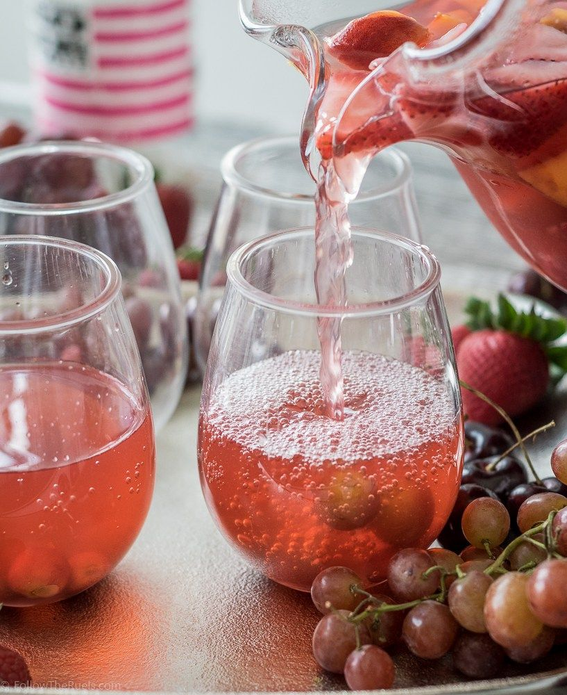 The perfect Summer Rosé Sangria!