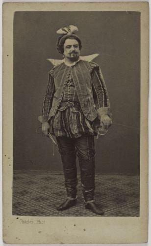 Portrait DEugene Crosti 1833 1909 Chanteur Lyrique A LOpera Comique