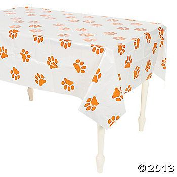 Puppy Paw Print Plastic Tablecloth | Paw patrol party