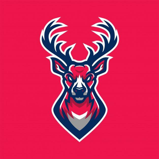 Deer Mammoth Sport Gaming Mascot Logo