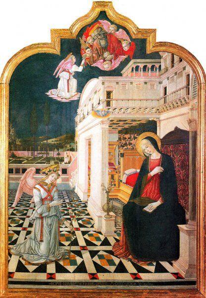 Benvenuto di Giovanni -  Annunciazione - 1470 - tempera su tavola - Chiesa di San Bernardino, Sinalunga