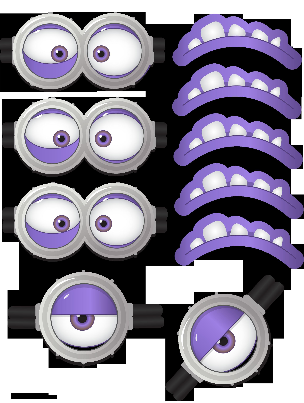 Partyummy Printable Minion Visage Violet Faces Evil Minions Do