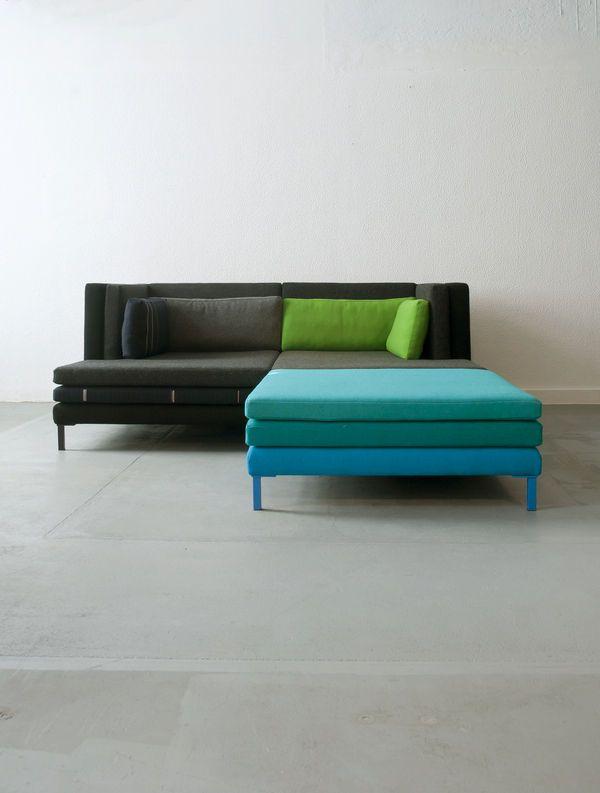 Contemporary Modular Sofa Layer By Marco Sousa Santos Branca Lisboa