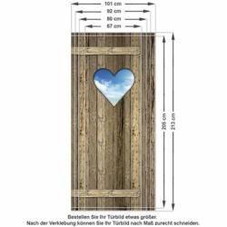 Photo of Door sticker heart, wooden door, cloudsWayfair.de