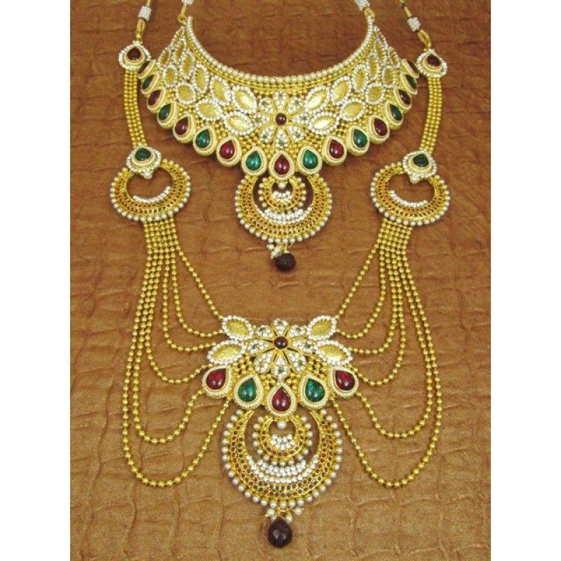 Designer Indian Polki Bridal Jewellery Sets - 83576 (SD-Complete ...