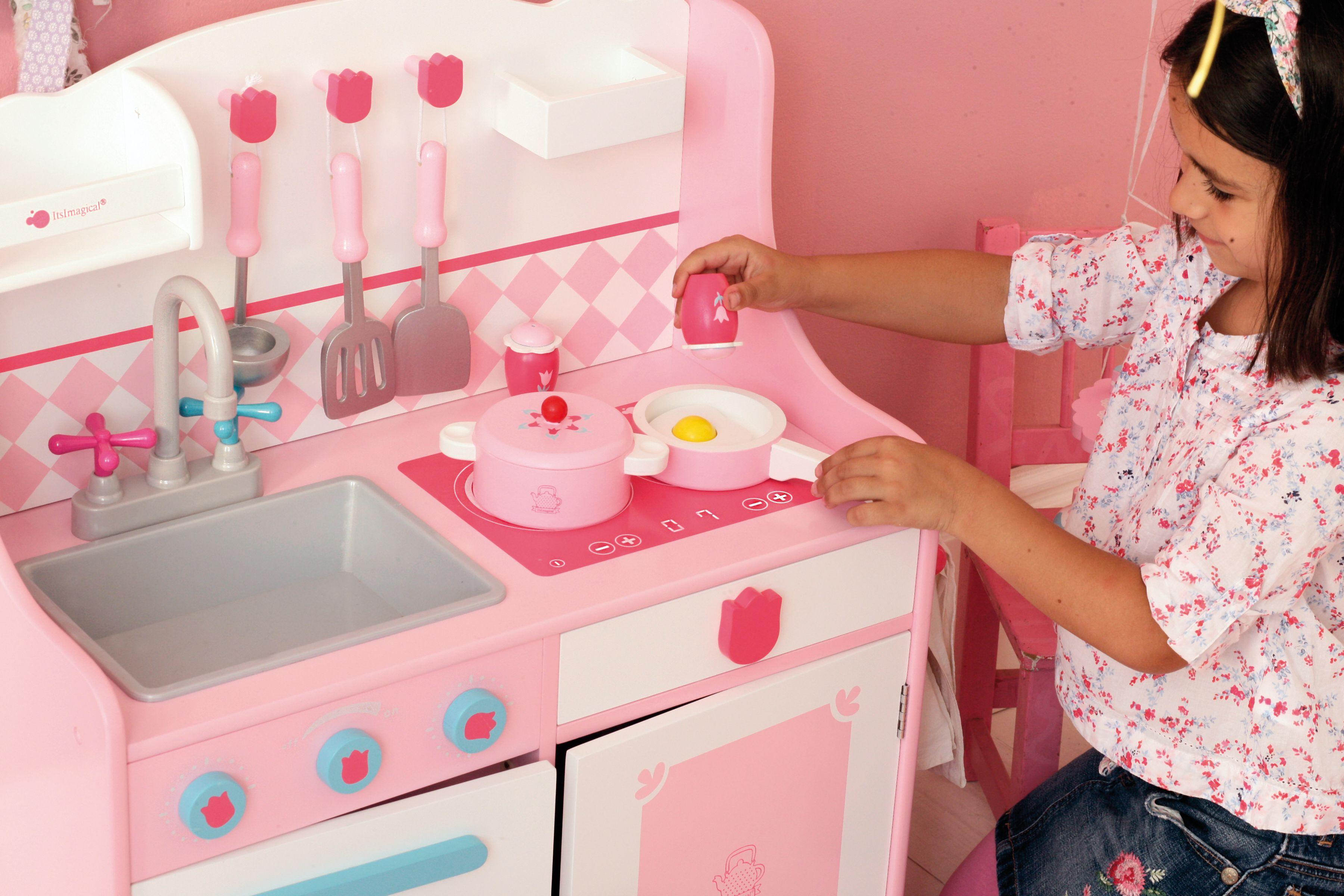 Cocinita de juguete de madera cocina con ni os - Cocina madera imaginarium ...