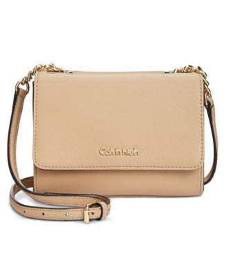 698adb395887 CALVIN KLEIN Calvin Klein Pebble Leather Mini Crossbody.  calvinklein  bags   shoulder bags  leather  crossbody  lining