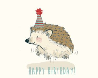 hedgehog birthday Greetings Card   Happy Birthday Hedgehog   draw   Pinterest  hedgehog birthday