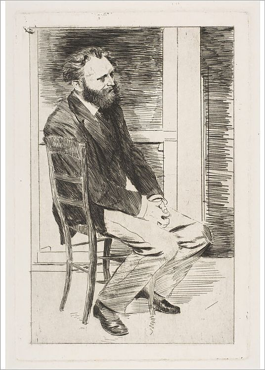 graph Manet Seated Turned to the Right 1864 65 Creator Edgar Degas
