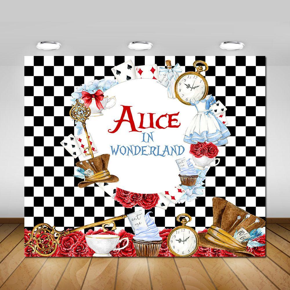 Alice Imprimable En Toile De Fond Au Pays Des Merveilles Avec
