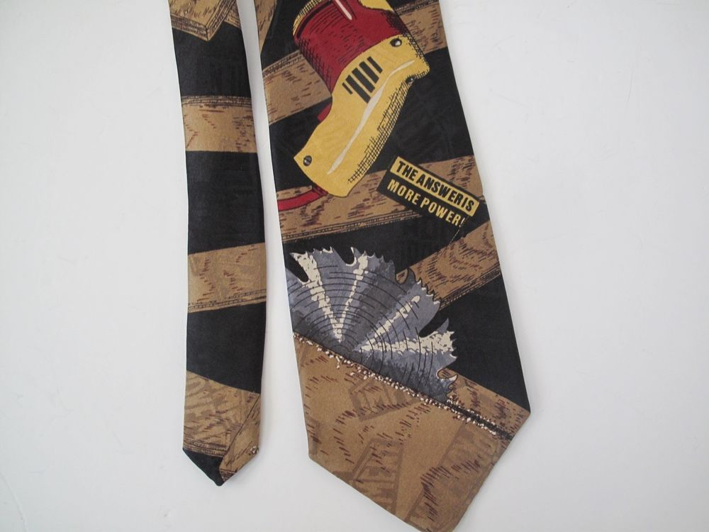 Tim Allen Home Improvement Tv Novelty Neck Tie With Drill And Saw Red Ebay Neck Tie Tie Clothes