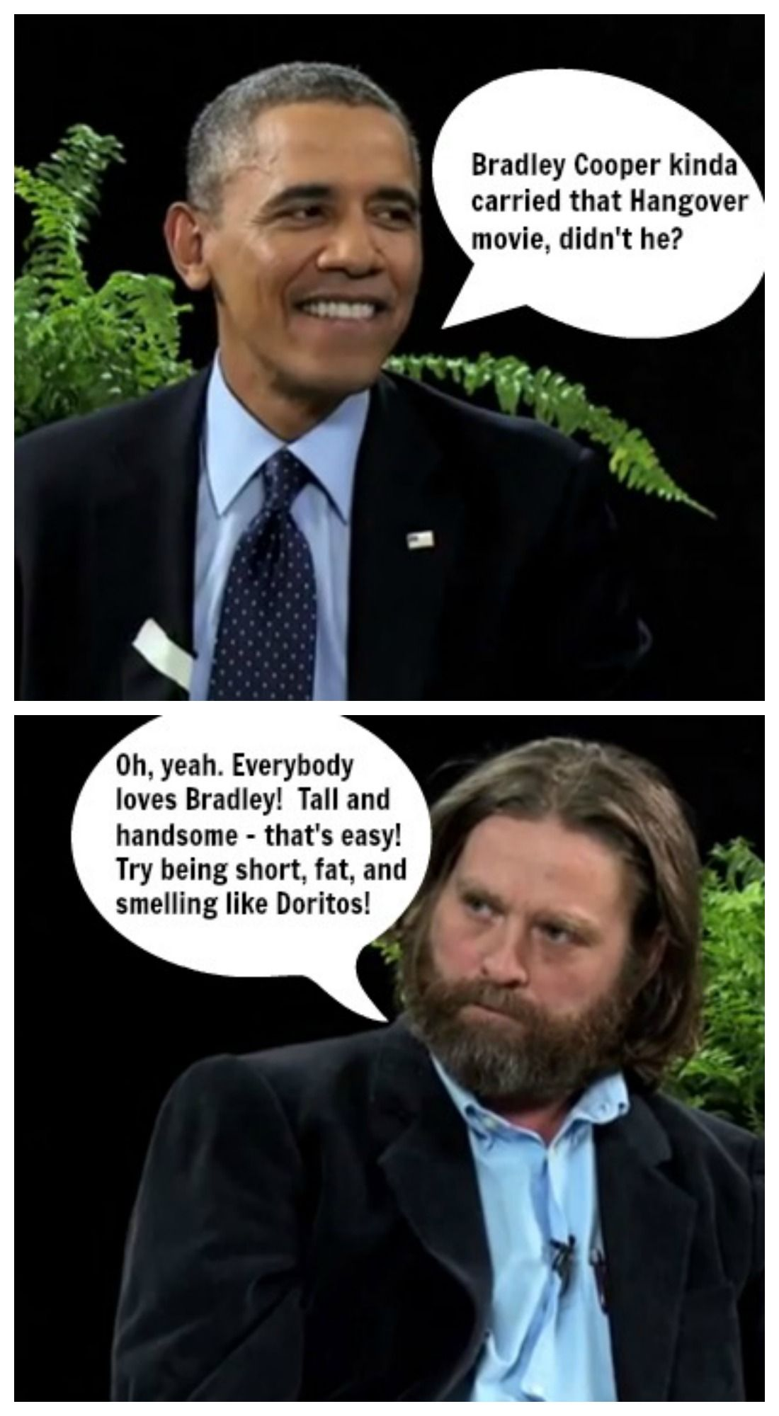 lol: funny or die: between two ferns - president obama and zach