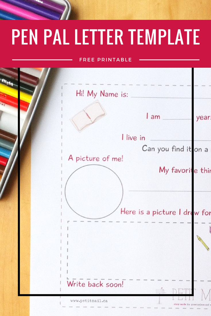 Pen Pal Letter Template. A free printable pen pal template for ...