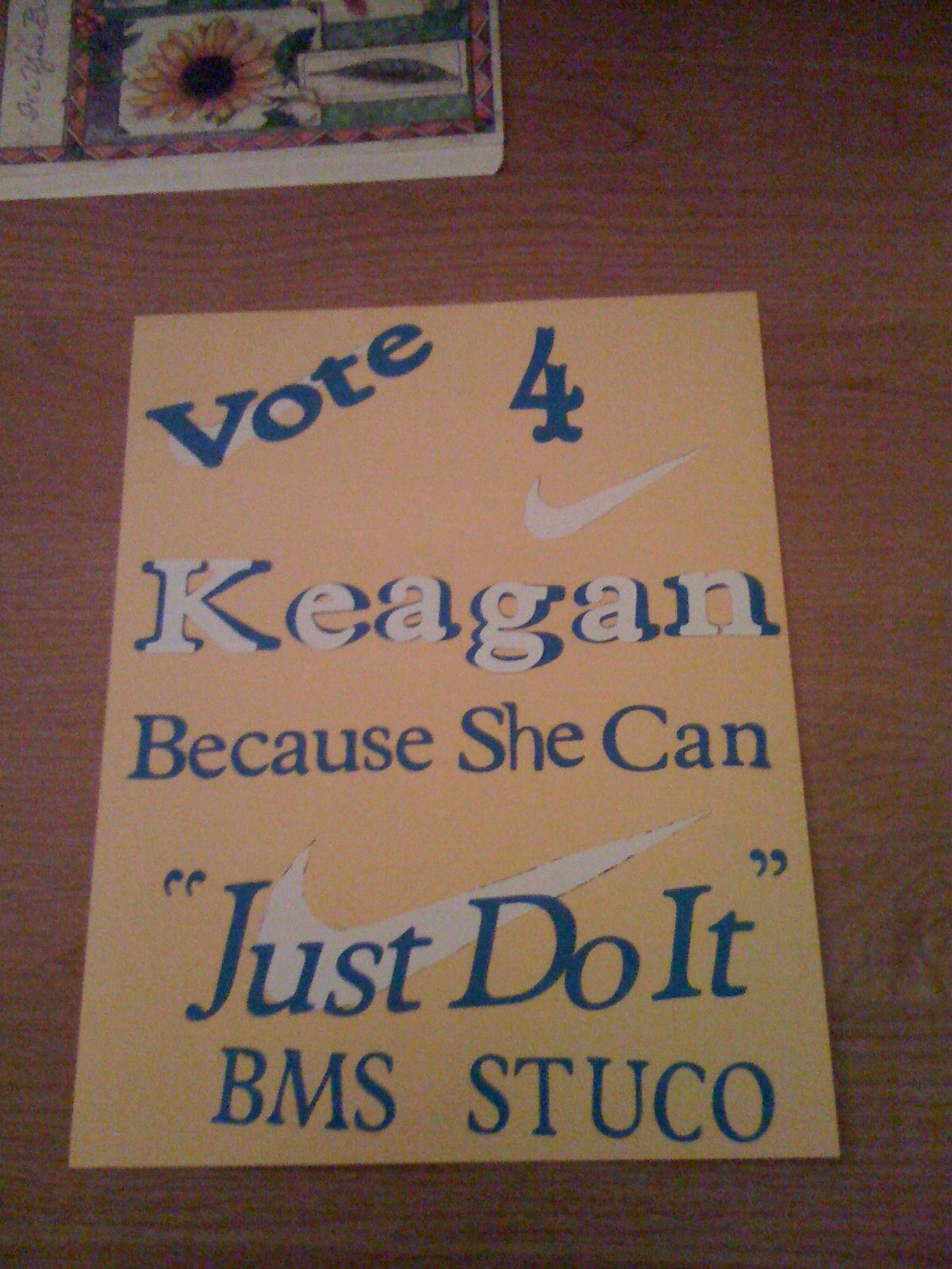 student council poster just do it kev kids. Black Bedroom Furniture Sets. Home Design Ideas