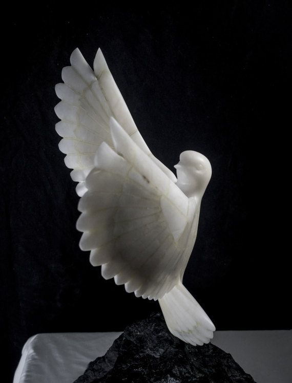 soapstone dove sculpture soapstone sculpture stone by WildAboutYou Alabaster Stone, Soapstone Carving, Dove Bird