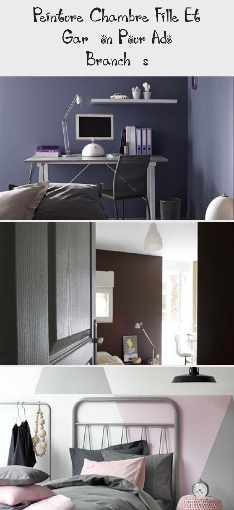 Peinture Chambre Fille Et Garcon Pour Ado Branches Decoration Ensuite Home Home Decor