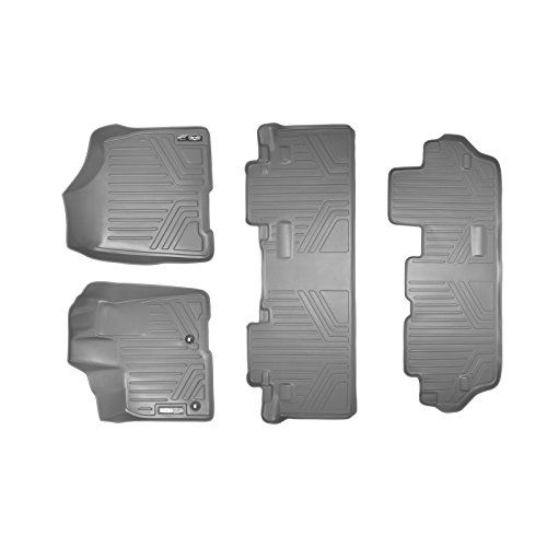 Maxfloormat Floor Mats For Toyota Sienna 8 Passenger 20132017 3 Row Set Grey On Sale Check It Out With Images Toyota Sienna Floor Mats Cargo Liner