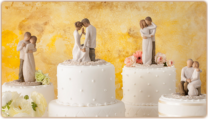 Cake Toppers I Love Willow Tree Figurines But What Do You Think About One Of These For Wedding Cake Topper Willow Tree Willow Tree Wedding Wedding Cake Tree