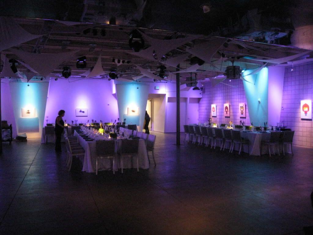 turquoise lighting. purple wedding favors turquoise lighting m