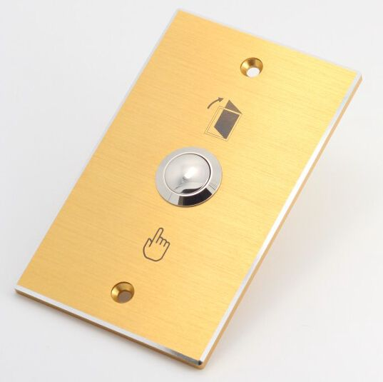 Elewind Door Bell Push Button With Rectangular Golden Panel Pm191b 10 S Doorbell Paneling Rectangular
