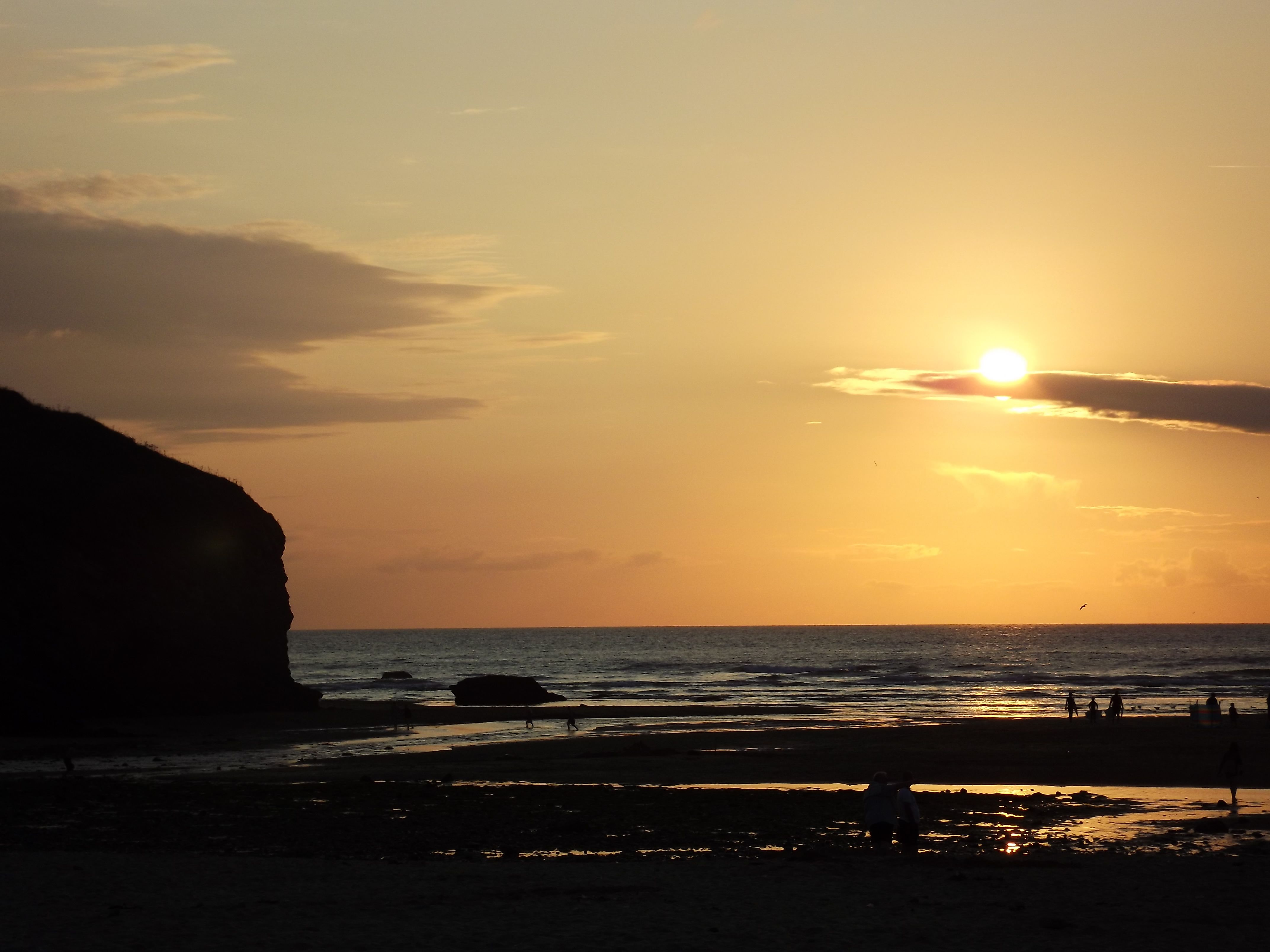 A sunset photo at my favourite beach, Mawgan Porth in Cornwall UK.