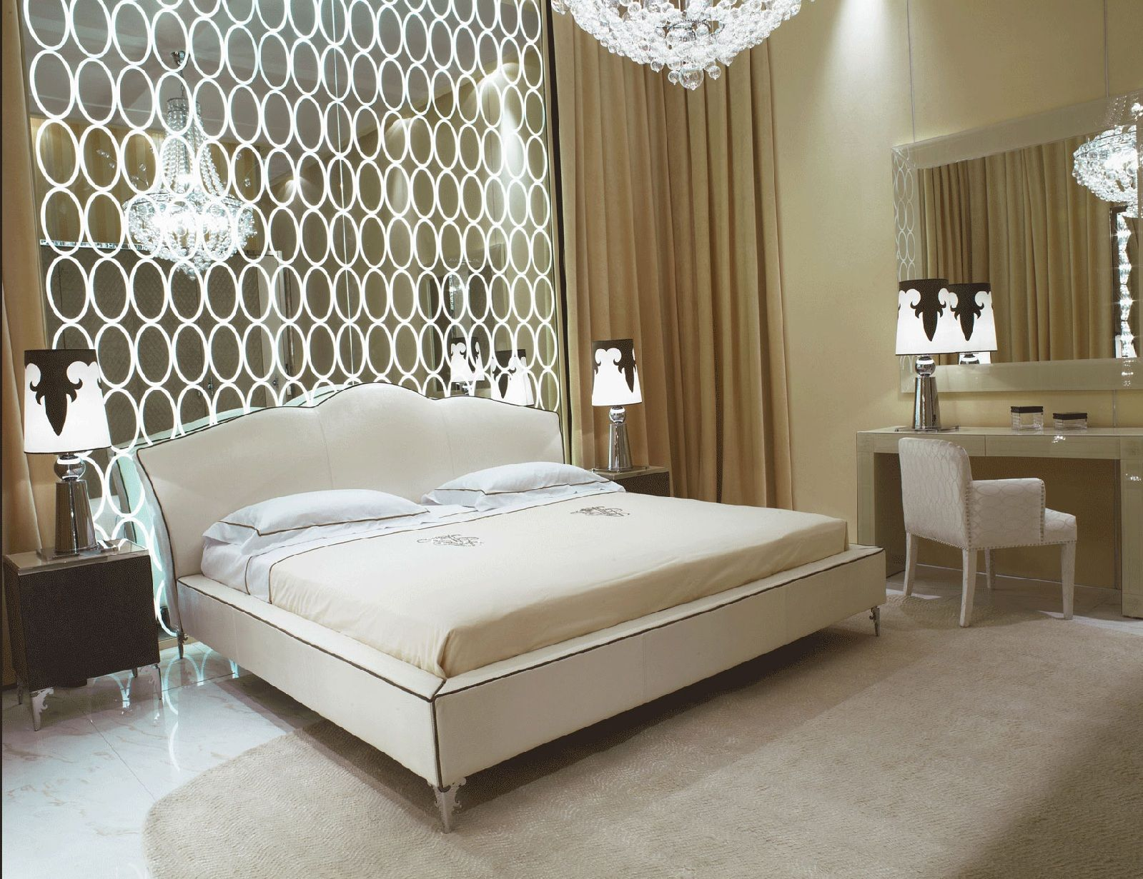 Glam glam glam hollywood luxe interiors designer for Beautiful bedroom decor