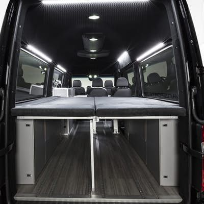 Vansports Camper bed folded down