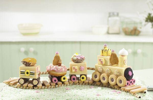 Annabel Karmels No Bake Train Cake Will be a super easy birthday