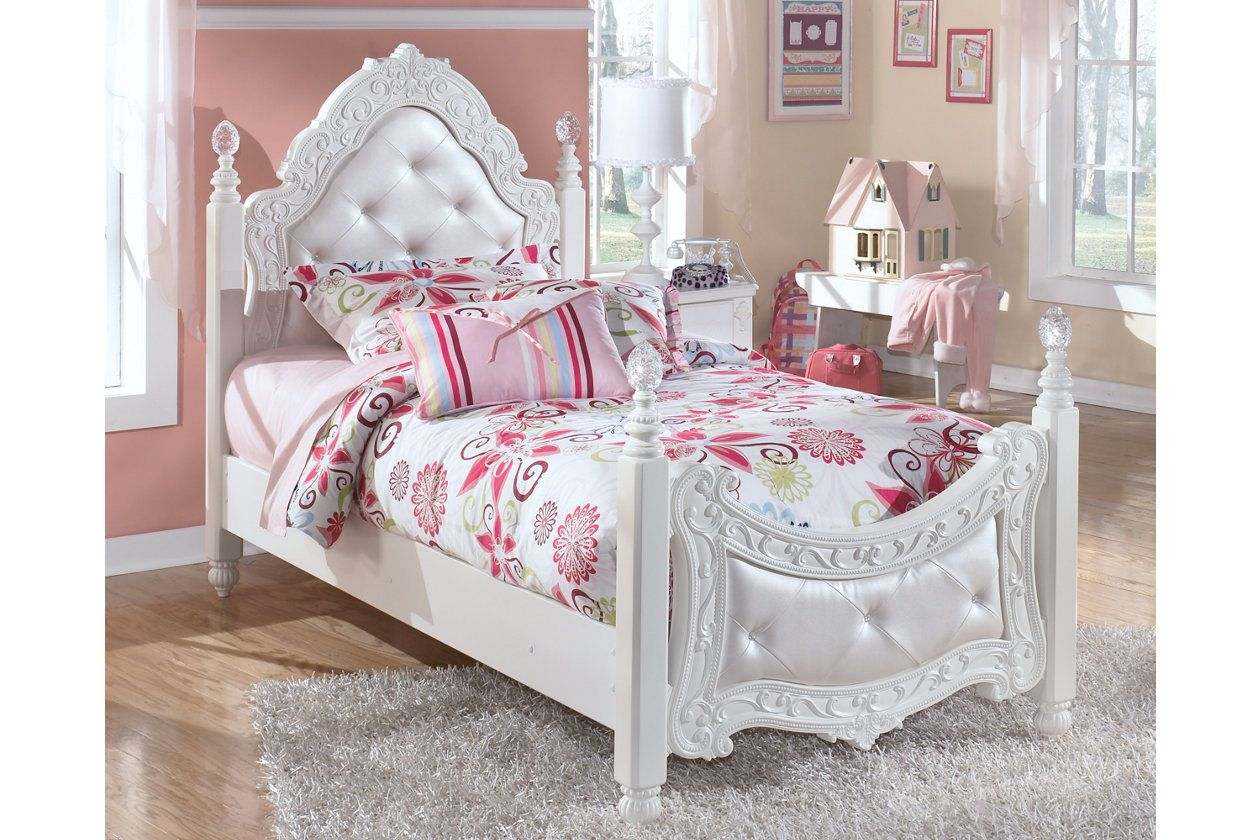 Exquisite Twin Poster Bed Ashley Furniture Homestore Kid Beds Girls Bedroom Furniture Ashley Furniture