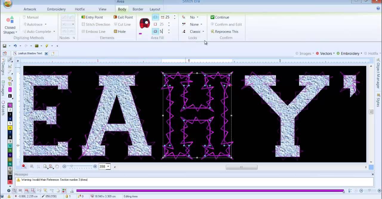 Working With Text Part 1 Sierra Stitch Era Software Training By