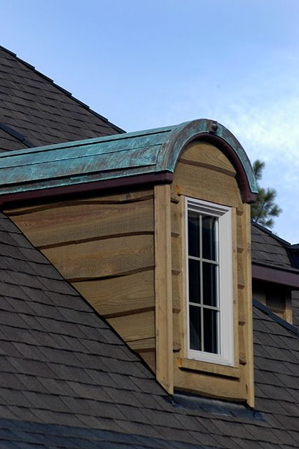Copper Roof On A Dormer Jess Alway Home Construction Exterior House Remodel House Exterior Exterior Remodel
