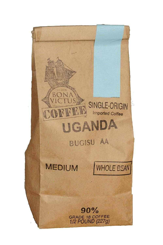 Coffee bean uganda single origin bugisu aa whole bean