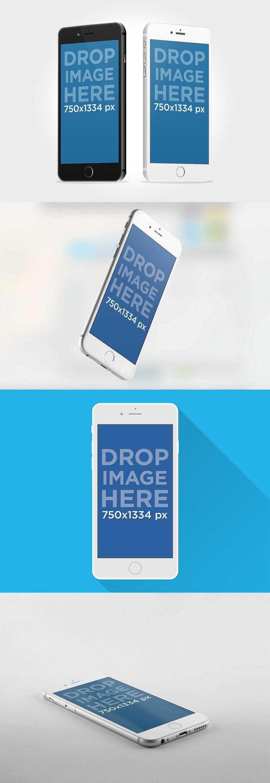 FREE IPhone 6 Mockup PSDs 모바일 앱, 템플릿, 아이폰