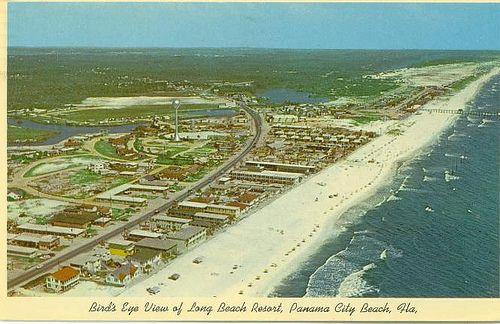 Bird S Eye Of Long Beach Resort Panama City Beach Florida 1950 S Postcard Panama City Panama Panama City Beach Panama City Beach Florida