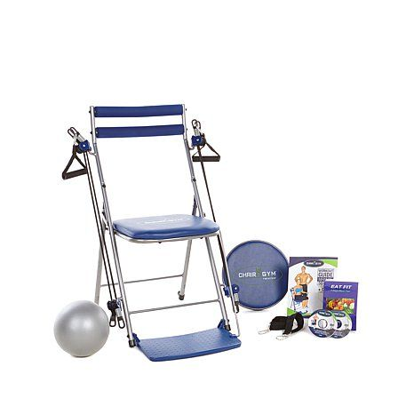 Chair Gym Exercise System with Twister Seat Ball DVDs