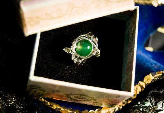 Anello Slytherin  Wire Jewellery di BtrixArt su Etsy