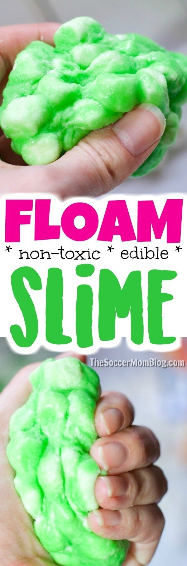 Diy edible floam slime recipe poofy squishy diy floam slime is easy to make at home only 4 ingredients ccuart Images