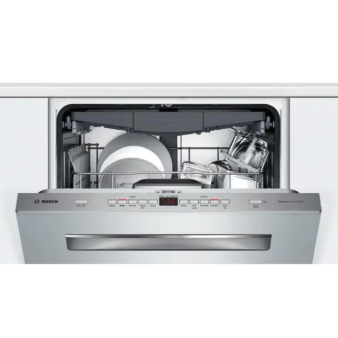 Bosch 500 44 Decibel Top Control 24 In Built In Dishwasher Stainless Steel Energy Star Lowes Com Built In Dishwasher Steel Tub Dishwasher