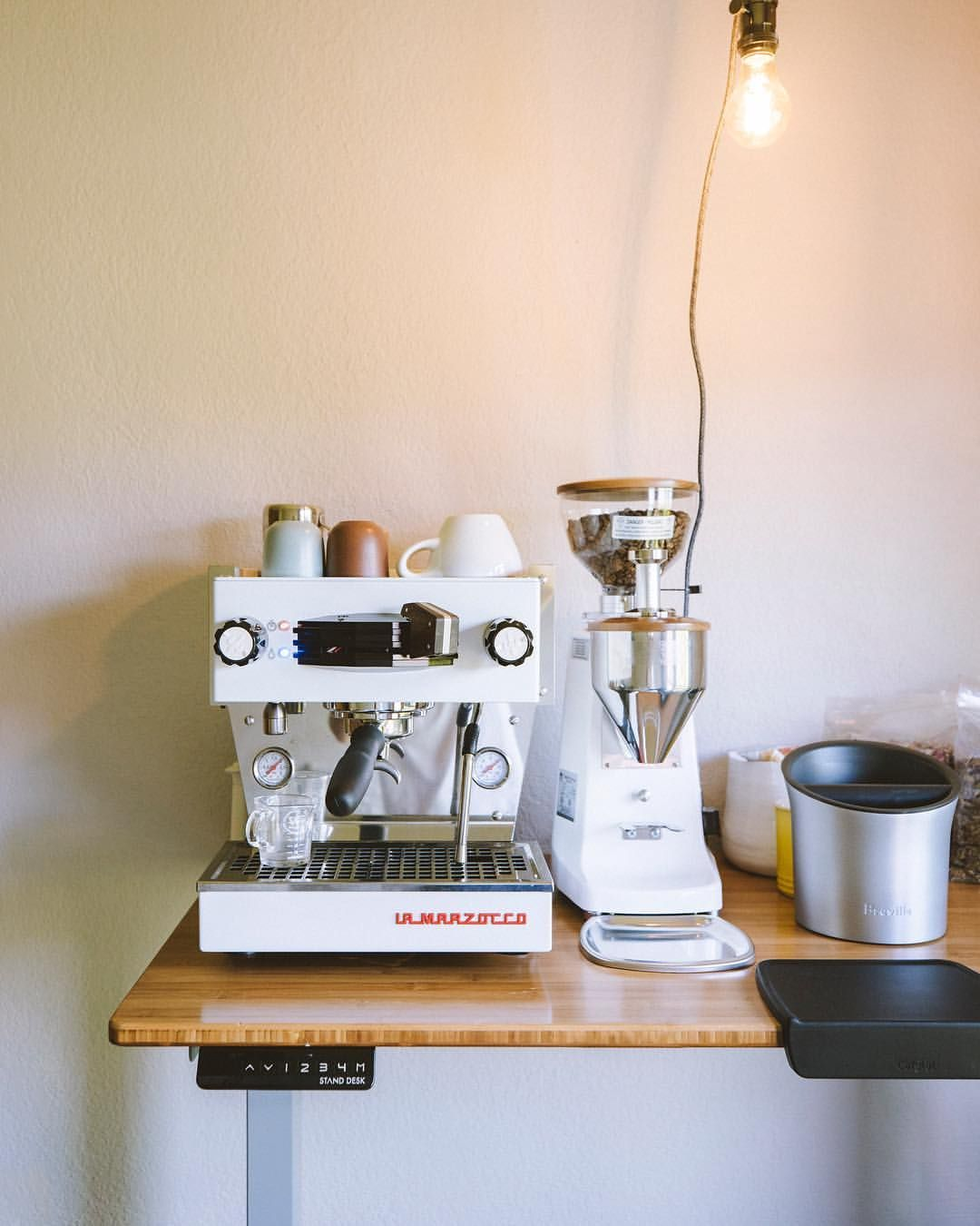1 853 Likes 9 Comments La Marzocco Home Lamarzoccohome On Instagram Beautiful Linea Mini Stu Home Coffee Stations Coffee Bar Home Home Espresso Machine