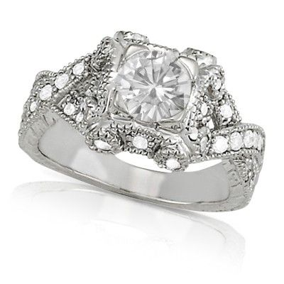 Único - 1.63 cttw Round Brilliant Moissanite Ring, 14k White or Yellow Gold. By Charles & Colvard