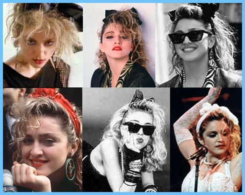 Hair Style In The 80s: Madonna's Different 80's Looks !