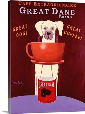 Great Dane Brand Coffee Art Coffee Poster Coffee Painting