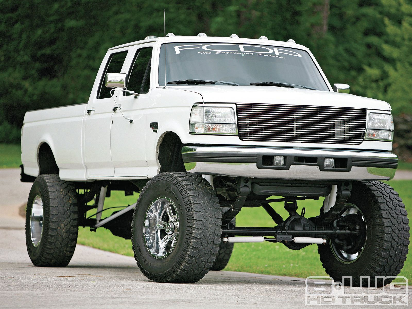 1997 Ford F350 change the grill back to stock and put some black