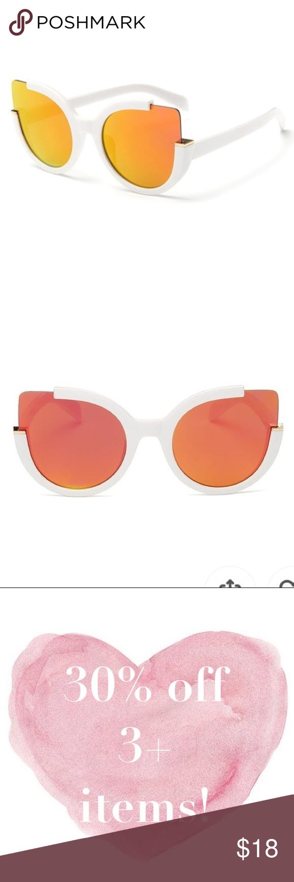 7a8e6a5cc4c57 📣 30% OFF! NWOT Torrid cateye sunglasses White