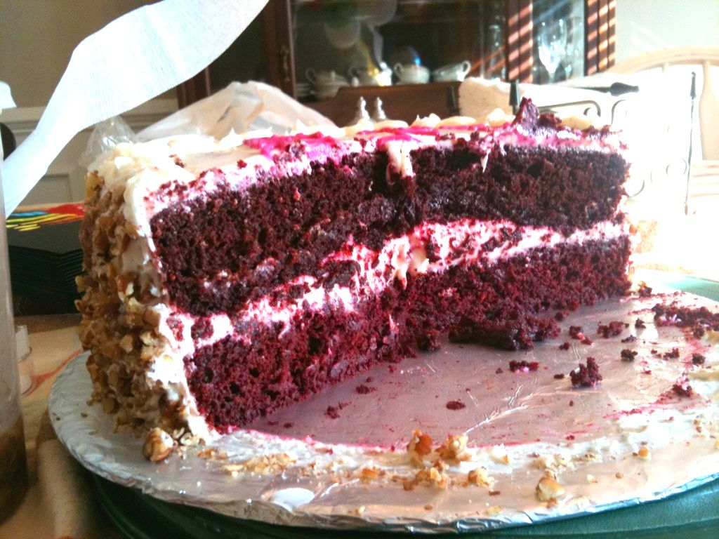 Red Velvet cake made with beets